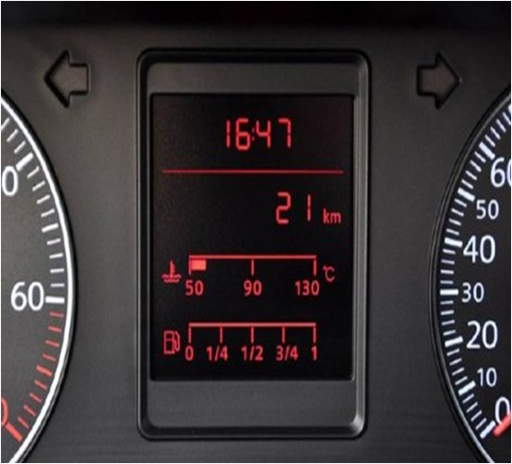ESTN LCD as an automotive dash application