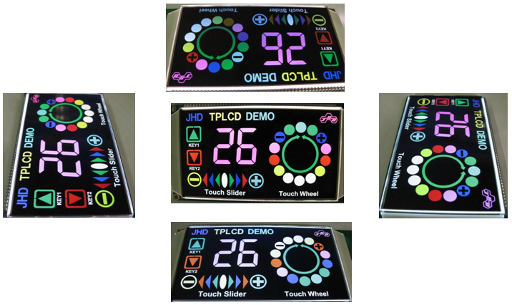 NCSLCD modules at different viewing angles